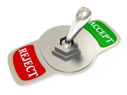 Illustration Of Accept And Reject Options Stock Photo