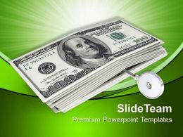Illustration Of American Dollars With Key Powerpoint Templates Ppt Themes And Graphics