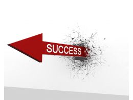 Illustration Of Arrow With Success Stock Photo