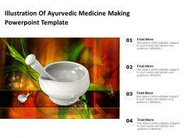 Illustration Of Ayurvedic Medicine Making Powerpoint Template