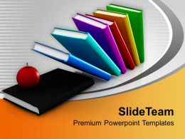 Illustration Of Books And Apple Education Powerpoint Templates Ppt Themes And Graphics 0113