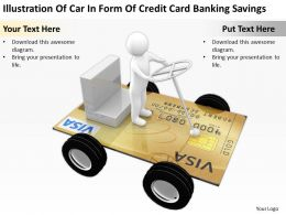Illustration Of Car In Form Of Credit Card Banking Savings Ppt Graphics Icons Powerpoint