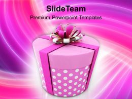 Illustration Of Christmas Gift PowerPoint Templates PPT Backgrounds For Slides 1113