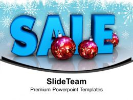 Illustration Of Christmas Sale With Xmas Balls Powerpoint Templates Ppt Themes And Graphics 0113