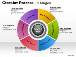 Illustration Of Circular Looped Process 6 Stages 21