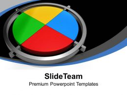Illustration Of Colorful Pie Chart Statistical Data Powerpoint Templates Ppt Themes And Graphics 0313