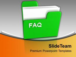 Illustration Of Computer Folder With Faq Powerpoint Templates Ppt Themes And Graphics 0113