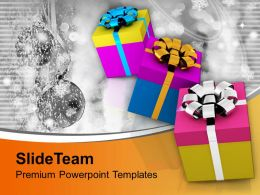 Illustration Of Gifts With Different Wrappings Design Powerpoint Templates Ppt Themes And Graphics 0113