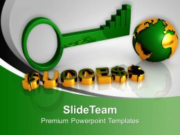 Illustration Of Global Success Key Powerpoint Templates PPT Backgrounds For Slides 0213