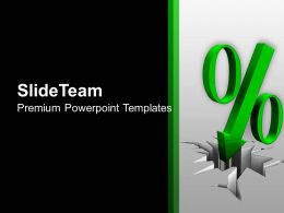 Illustration Of Green Percent Sign PowerPoint Templates PPT Themes And Graphics 0213