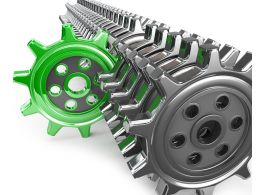 Illustration Of Green Unique Gear Stock Photo