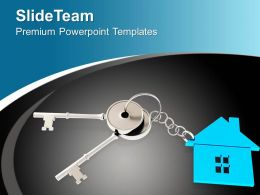 Illustration Of House key Security Concept PowerPoint Templates PPT Themes And Graphics 0213