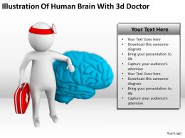 Illustration Of Human Brain With 3d Doctor Ppt Graphics Icons Powerpoint