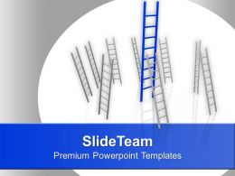Illustration Of Ladder Of Success Powerpoint Templates Ppt Themes And Graphics 0113