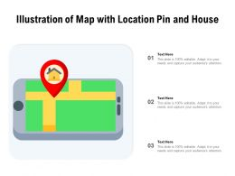 Illustration Of Map With Location Pin And House