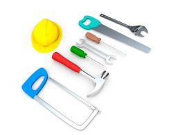 Illustration Of Mechanical Tools Stock Photo