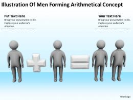Illustration Of Men Forming Arithmetical Concept Ppt Graphics Icons Powerpoint
