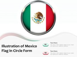 Illustration Of Mexico Flag In Circle Form