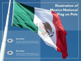 Illustration Of Mexico National Flag On Pole