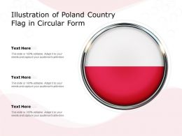 Illustration Of Poland Country Flag In Circular Form