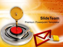 Illustration Of Protected Business Email Powerpoint Templates PPT Themes And Graphics 0113
