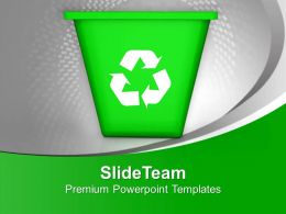 Illustration Of Recycling Symbol With Bin PowerPoint Templates PPT Themes And Graphics 0213
