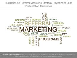 Illustration Of Referral Marketing Strategy Powerpoint Slide Presentation Guidelines