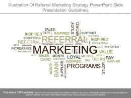 Illustration Of Referral Marketing Strategy Powerpoint Slide Presentation Guidelines