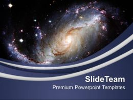 Illustration Of Spiral Galaxy PowerPoint Templates PPT Themes And Graphics 0213