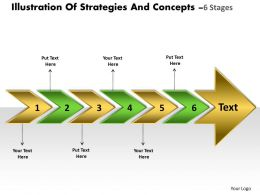 Illustration Of Strategies And Concepts 6 Stages Powerpoint Transformer Templates