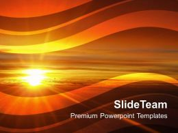 Illustration Of Sunset Beauty Powerpoint Templates Ppt Themes And Graphics 0213