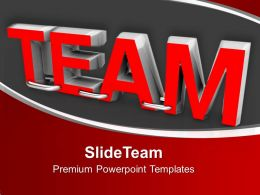Illustration Of Word Team In Red Color Powerpoint Templates PPT Backgrounds For Slides 0213