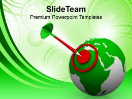 Illustration Of World Target Icon Powerpoint Templates Ppt Themes And Graphics 0213
