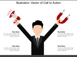 Illustration Vector Of Call To Action
