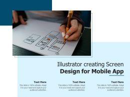 Illustrator Creating Screen Design For Mobile App