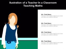 Ilustration Of A Teacher In A Classroom Teaching Maths