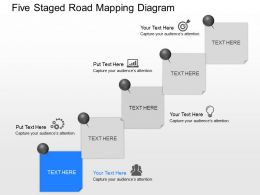Im Five Staged Road Mapping Diagram Powerpoint Template