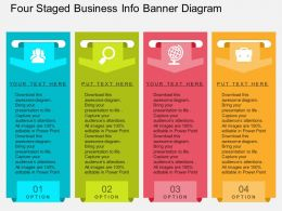 im Four Staged Business Info Banner Diagram Flat Powerpoint Design