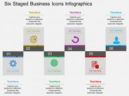 Im Six Staged Business Icons Infographics Flat Powerpoint Design
