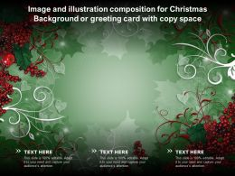 Image And Illustration Composition For Christmas Background Or Greeting Card With Copy Space