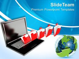Image Computer Global Powerpoint Templates And Themes Business Logic Presentation