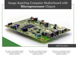 Image Depicting Computer Motherboard With Microprocessor Chipset