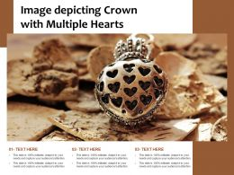 Image Depicting Crown With Multiple Hearts