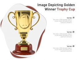 Image Depicting Golden Winner Trophy Cup