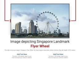 Image Depicting Singapore Landmark Flyer Wheel Powerpoint Presentation Ppt Template