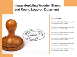 Image Depicting Wooden Stamp And Round Logo On Document