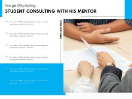 Image Displaying Student Consulting With His Mentor