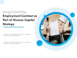 Image Explaining Employment Contract As Part Of Human Capital Strategy