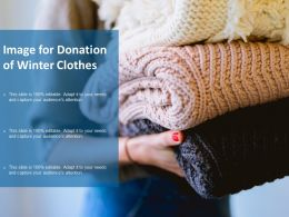 Image For Donation Of Winter Clothes