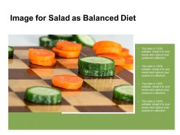 Image For Salad As Balanced Diet